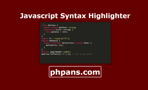 Syntax Highlighting Using Javascript Syntax Highlighter